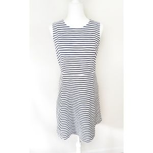 J.Crew Striped Flare Sleeveless Dress